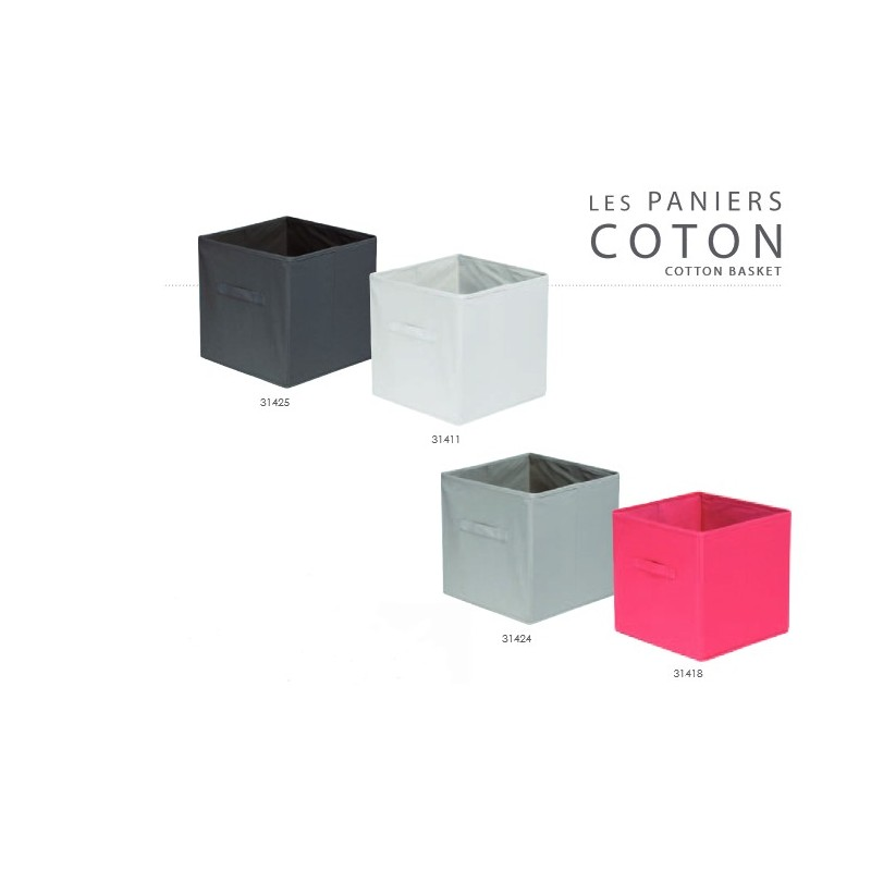 boite de rangement en coton pour id e d co et archivage documents. Black Bedroom Furniture Sets. Home Design Ideas