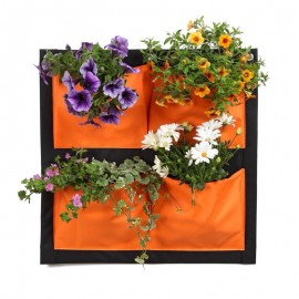 Mur Vegetal deco balcon Orange/Noir