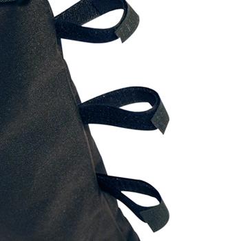 accrochage sac de lestage tonnelle par 3 larges sangles scratch