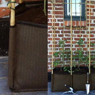 Bac potager balcon exterieur sable- Passants pour tuteurs