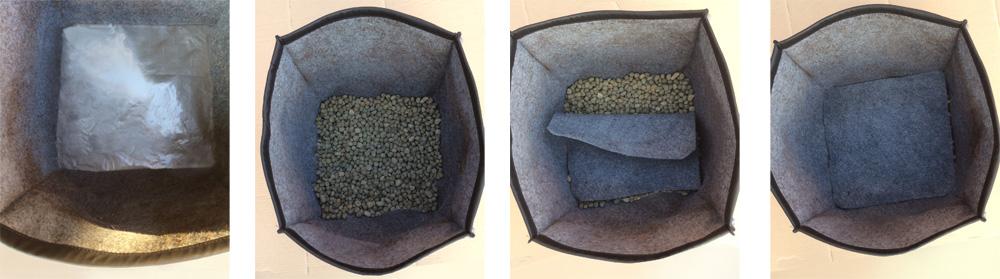 Installation des compartiments jardiniere tissu 90 cm