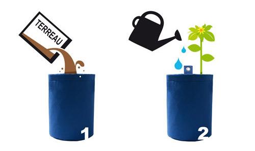 Comment planter avec coussin d'eau, utilisation pot et jardinière